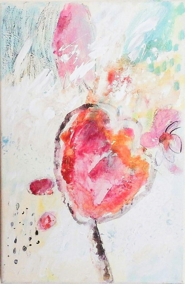 Kobus, Małgorzata, abstract, painting, acrylic, flower