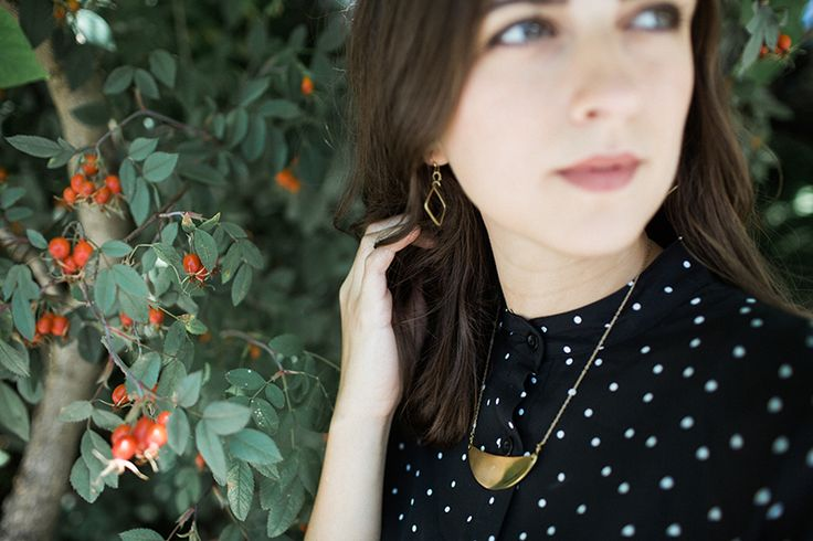 Brass Moon Necklace. Goes with everything! #necklace #brassnecklace #statementpiece #minimalist
