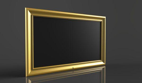 Videotree Gold-framed waterproof Outdoor TV