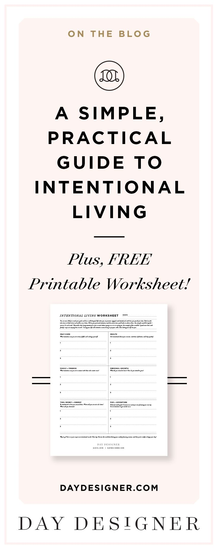 Living your life with intention means living on purpose rather than letting your life live you. We've designed an all-new printable that you can use every month to make sure that you're doing just that! Here's what you'll want to do each month to build this into your routine...