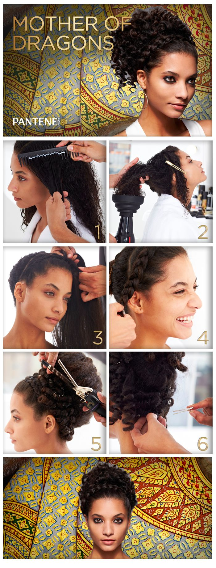Just a little extra curl can make your hair the mane event. Dress up your GOT or Glam Greek Goddess costume with these curls that are taken to great heights.