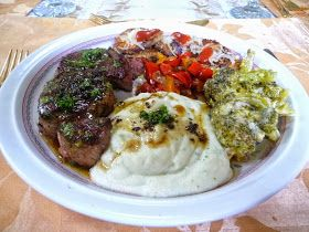 SPLENDID LOW-CARBING BY JENNIFER ELOFF: GARLIC PARSLEY BUTTER STEAK AND CAULI-MASH