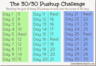 January's 30 day workout challenge!