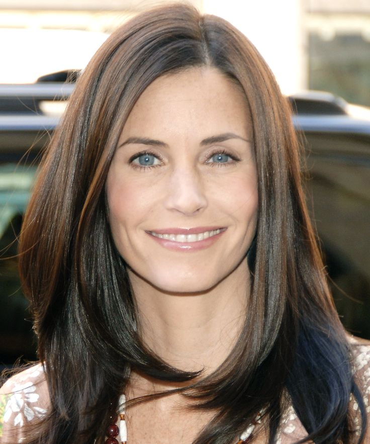 April 12, 2005 - Courtney Cox  To help unveil a new ad campaign for Kinerase skin care line at Sephora in NYC, she wore very little makeup to let her skin shine.