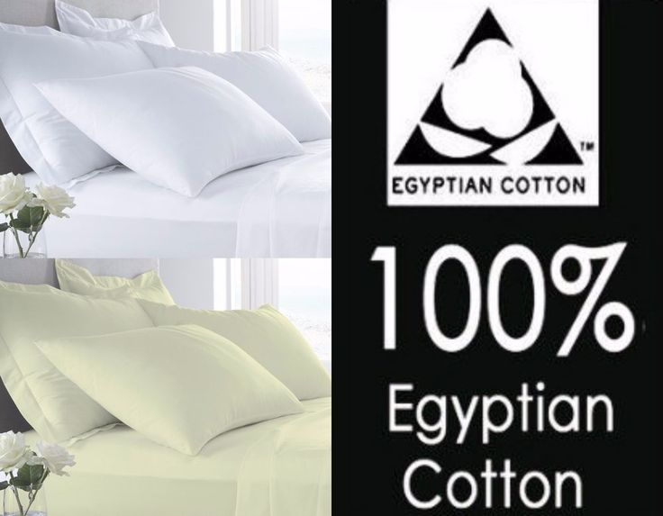 400 Thread Hotel Quality Egyptian Cotton Fitted Sheets Flat Sheets Pillow Cases