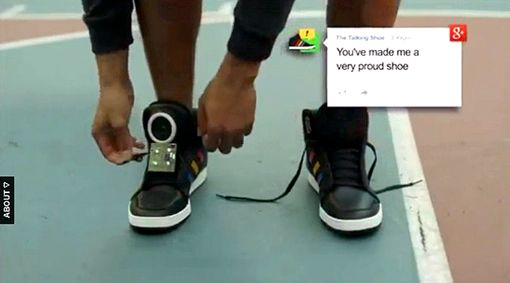 Google unveils 'talking shoe' at SXSW Interactive | EW.com