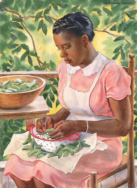 Needlepoint canvas. Laura Shelling Butter Beans by Frank Stanley Herring needlepoint.