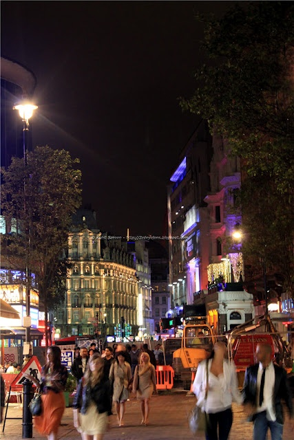 Visit Leicester Square by night