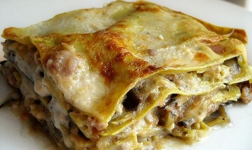 Pasticcio di radicchio e salsiccia (radicchio and sausage lasagne)
