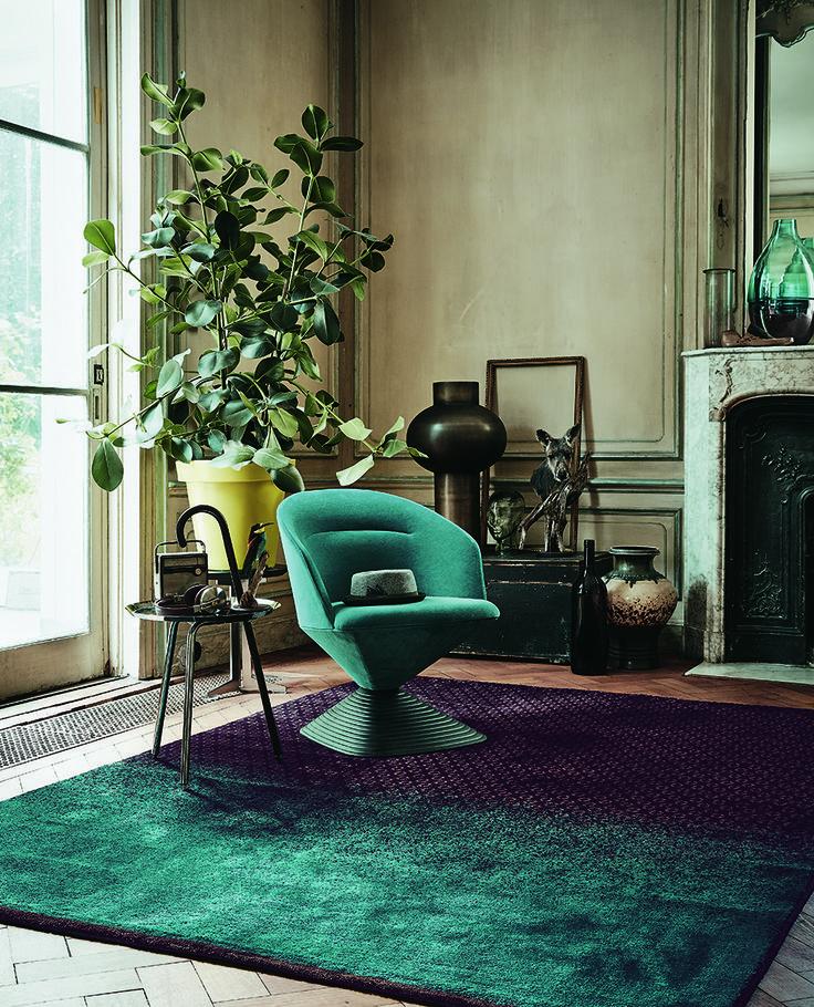 Der Exklusive Designerteppich Dipgeo Von Ted Baker Wurde Von Hand Gewebt Und Hat Einen Seidig Weichen Flor Dieser Schoner Wohnen Mobel Teppich Teppich Design