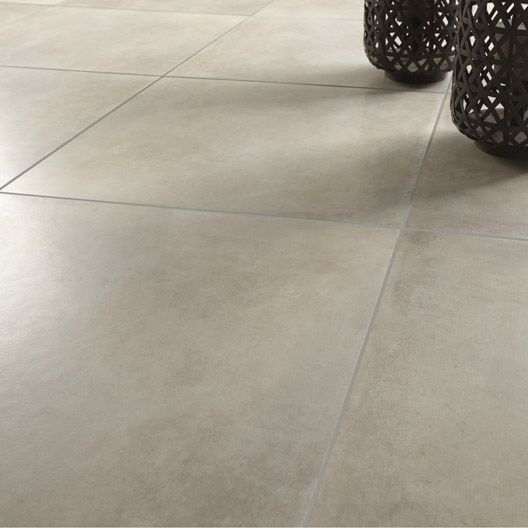 Carrelage int rieur liberty en gr s c rame taupe clair for Carrelage sol interieur gris clair