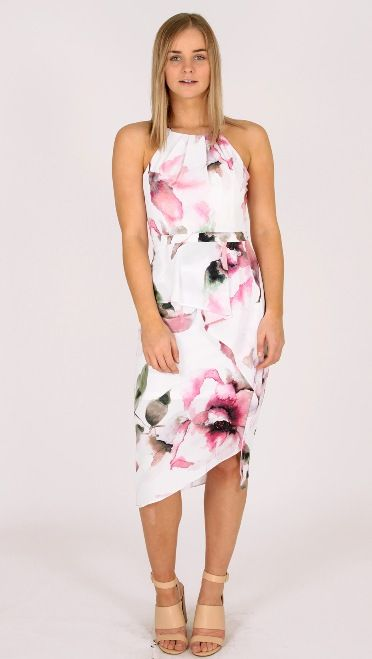 What a fabulous cut... Loving the colours... Gorgeous dress, perfect for the Spring Races!!