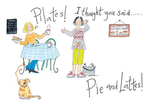 Pilates! I thought you said Pie and Lattes! Shop now: Buy 10 cards for £14 http://tinyurl.com/je332nl