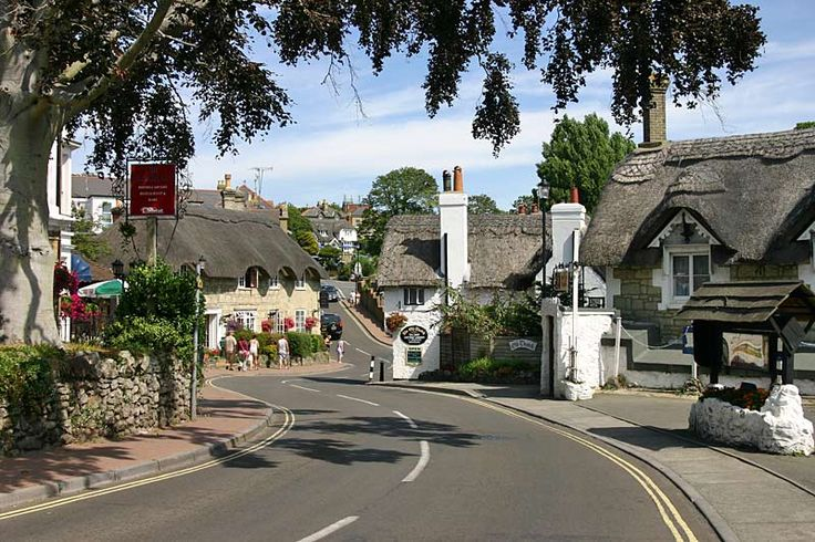 Thatched roofs of Shanklin Old Village, on the Isle of Wight, UK