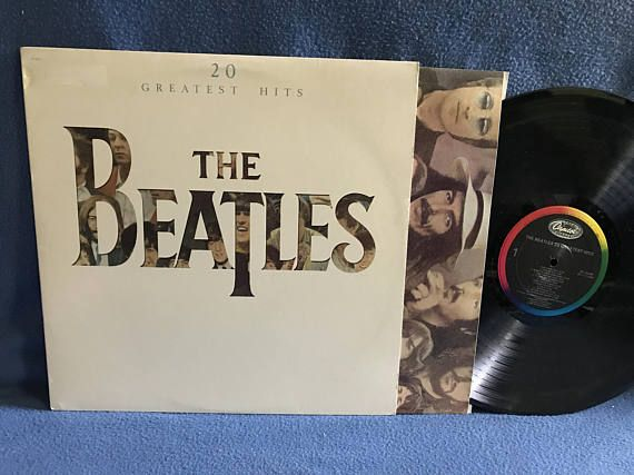 RARE Vintage The Beatles  20 Greatest Hits Vinyl