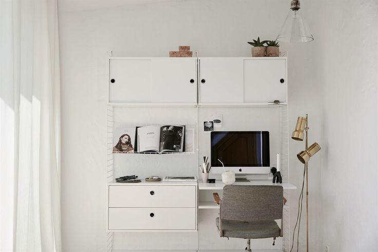 Workspace Bedroom Stockholm scandinavian design interior deco Brännkyrkagatan 93, vindsvåning | Fantastic Frank