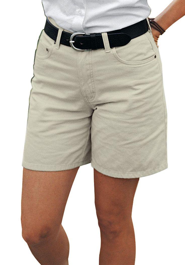 Produkttyp , Shorts, |Optik , Uni, |Stil , Basic, |Bund + Verschluss , Reißverschluss, |Passform , für die kurvige Figur, |Leibhöhe , Bund auf Taille, |Vordertaschen , Seitliche Eingrifftaschen, |Gesäßtaschen , Mit aufgesetzten Taschen, |Saum , Ohne, |Material , Baumwolle, |Materialzusammensetzung , 100% Baumwolle., |Pflegehinweise , Maschinenwäsche, | ...
