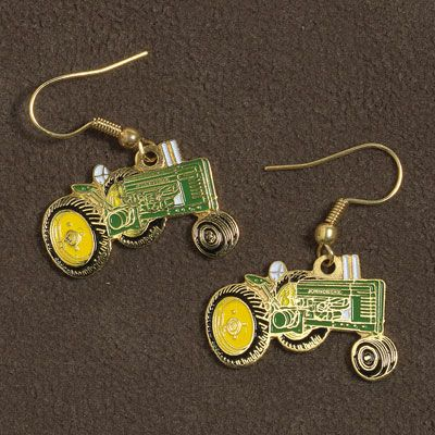 John Deere Tractor Earrings | MonsterMarketplace.com
