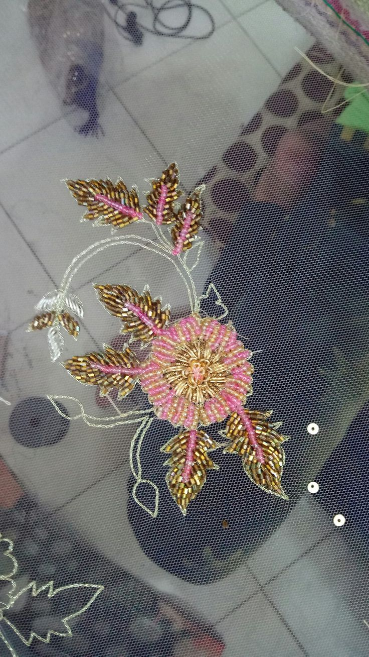 Delicate handwork using mix material.