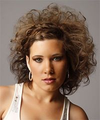 Alternative Medium Curly Hairstyle - click to view hairstyle information