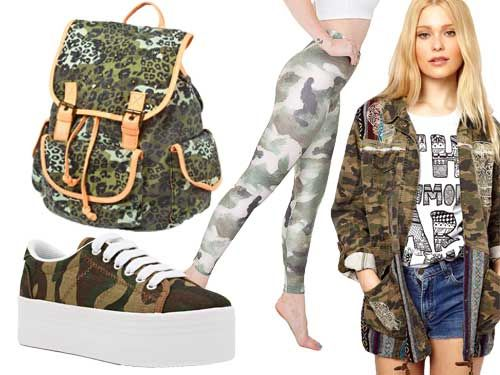 Go wild for camo print this fall when shopping for back to school looks. Also look for it on, and under, the Christmas tree this winter!