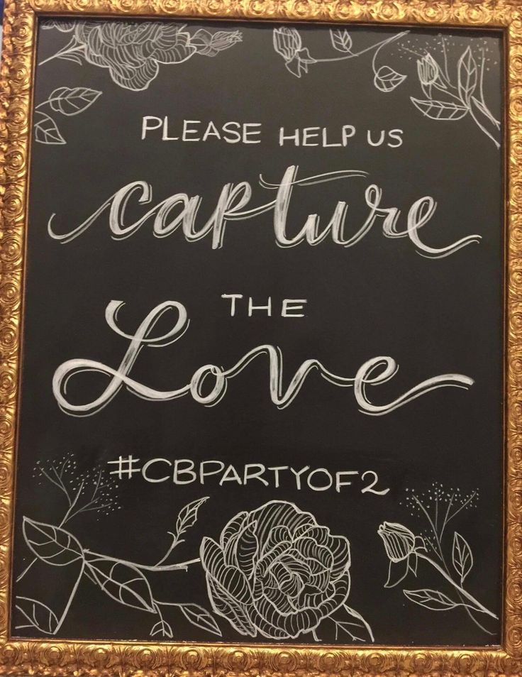 Wedding Chalk Art Signs - help us capture the love