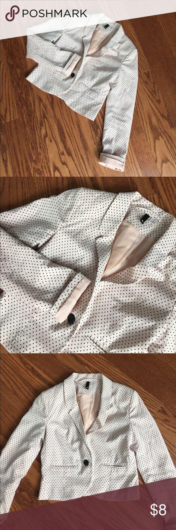 Polka Dot Blazer Blush & Black polka dotted blazer! Divided Jackets & Coats Blazers