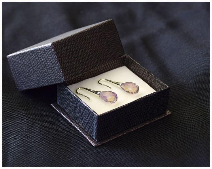 Ametrine earrings in Gift box