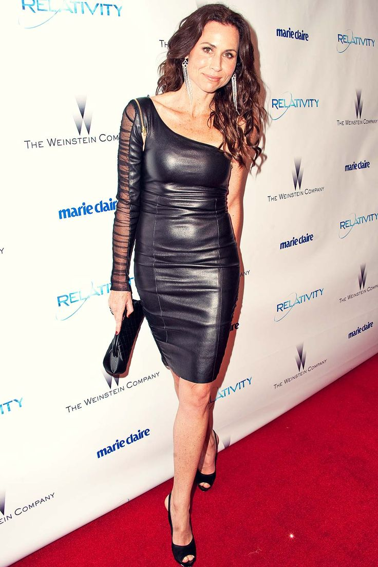 Minnie Driver attends 68th Annual Golden Globe Awards - Leather Celebrities