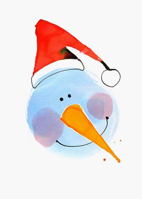 Margaret Berg : holiday / christmas: Snowman Face