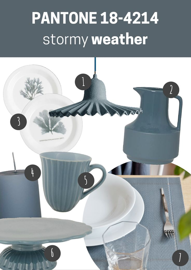 pantone 18-4214 stormy weather   kuchnia / jadalnia // kitchen / dining room