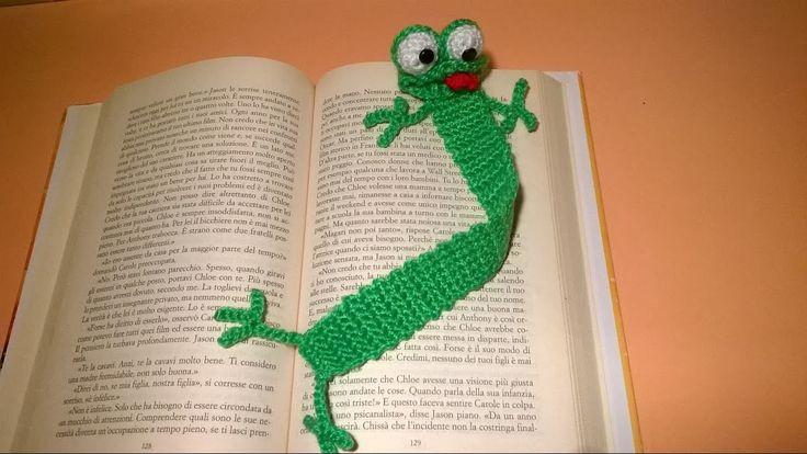Rana Segnalibro Uncinetto Tutorial -Amigurumi - Crochet Frog Bookmark - Rana Marcador