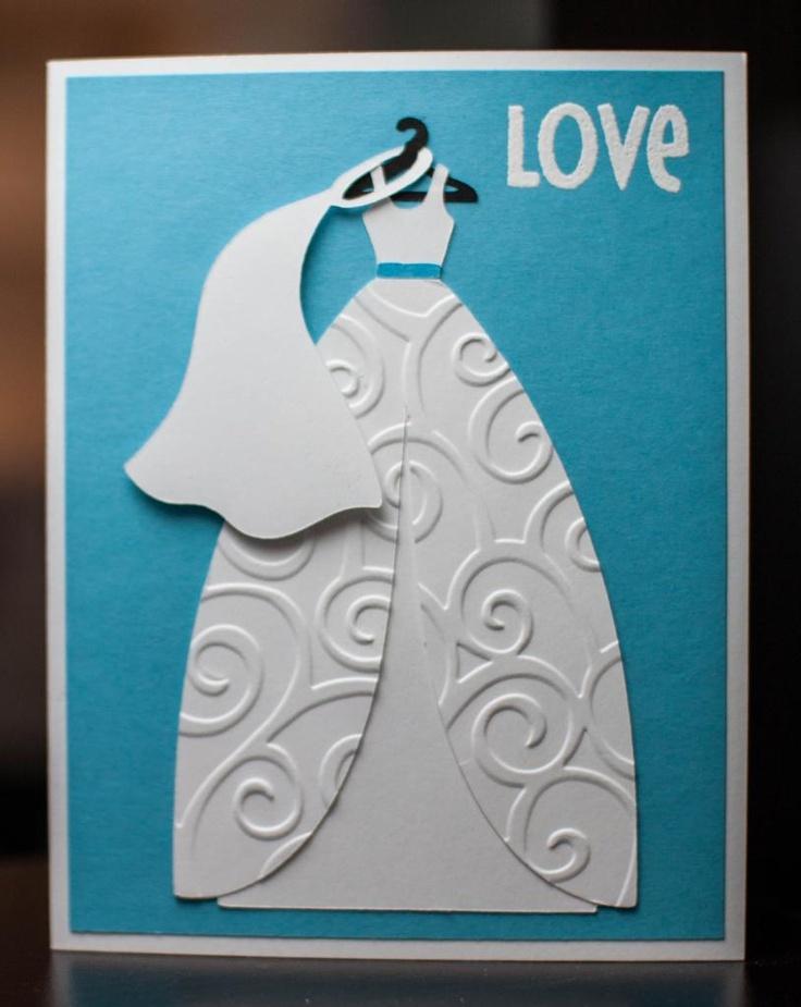 Bridal shower card using Cricut cartridge Sweethearts and