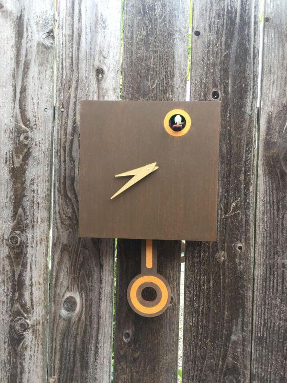 Modern Cuckoo Clock Wall Mount with Cuckoo bird Christmas