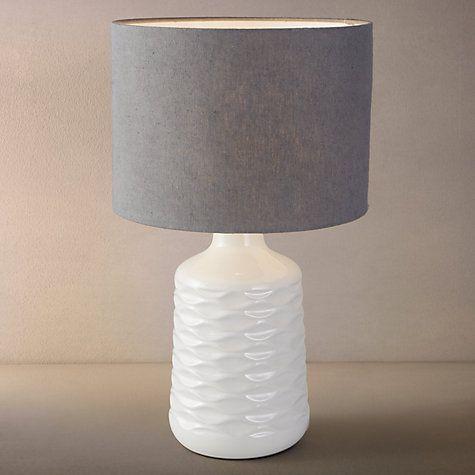 Buy John Lewis Annie Gloss Ceramic Base, White/Grey Online at johnlewis.com