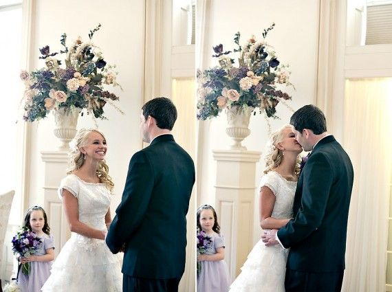 How an LDS bride and groom can include non-members in an LDS wedding ceremony