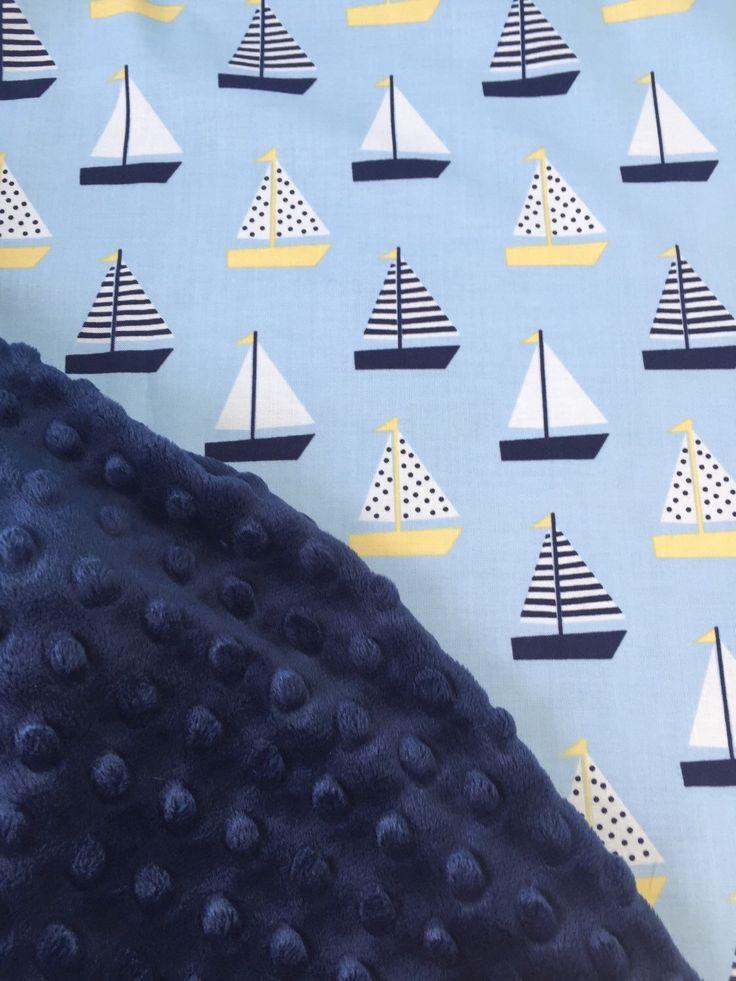 Baby Boy Bedding, Nursery Decor, Nautical Nursery, Sailboat Crib Bedding, Baby Boy Blanket, Preppy Baby Boy https://www.etsy.com/listing/292887661/baby-boy-blanket-sailboat-blanket