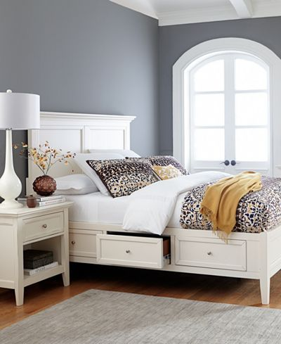 Sanibel Storage Bedroom Furniture 3 Piece King Set Bed Bachelor Chest And Nightstand