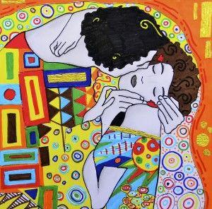 4 printable worksheets about Gustav Klimt: second set