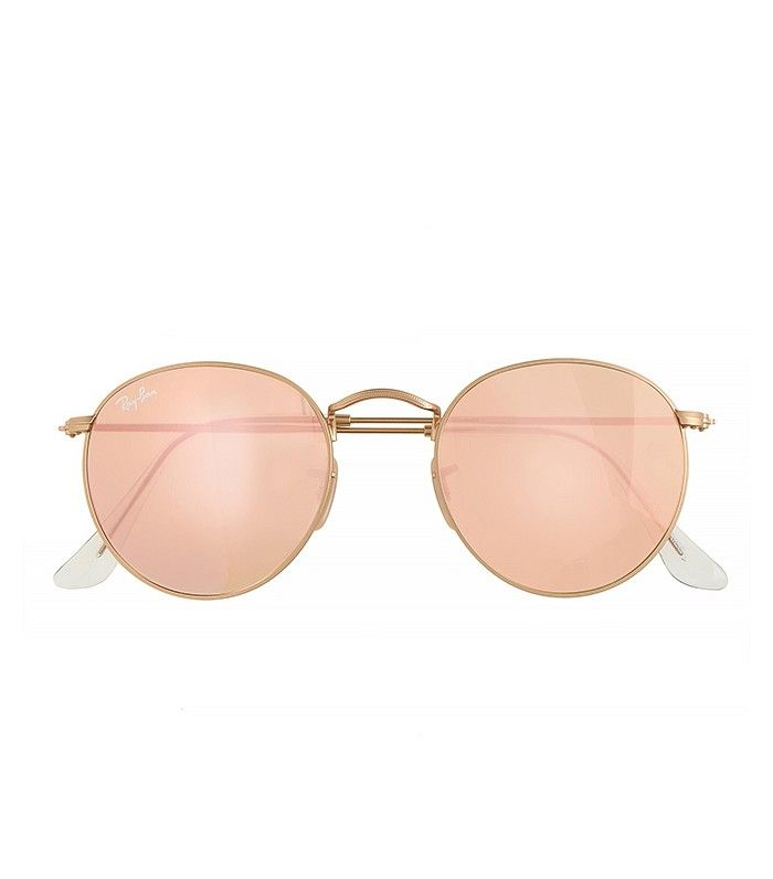 1b61962ebd ... coupon ray ban aviator ray ban retro round sunglasses with flash lenses  in gold flash pink