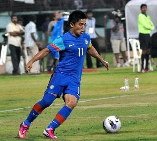 Indian football team has defeated Nepal in the 1st leg match of round-1 in world cup 2018 qualification. Sunil Chhetri scored twice 53' and 71' as India wins.
