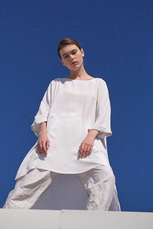 Купить Туника КВАДРАТ шёлк из коллекции «…И ВХОДИТ ЖЕНЩИНА» от Lesel (Лесель) российский дизайнер одежды