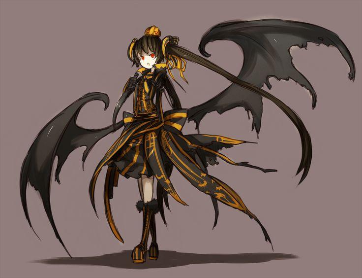 dark demon anime girl everything anime pinterest