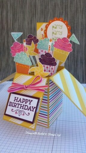 Stampin up cupcake party, sweets for the sweet and hey you stamp sets with sweet taffy dsp. Love these ive made.