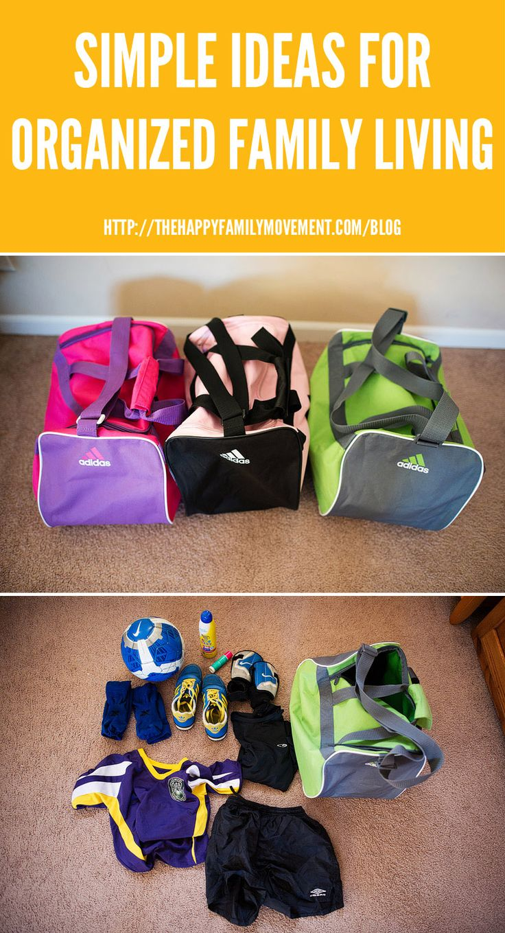 Simple ideas for organized family living soccer bags