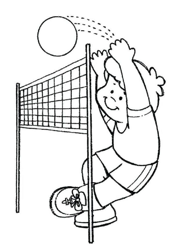 Practice Volleyball Coloring Pages | Sports coloring pages ...