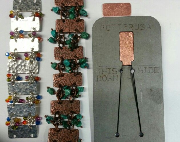 24 best metal pancake dies images on pinterest enamels jewelry these are two bracelets made by joni kisro using kevin potters pancake die in the hydraulic ccuart Choice Image