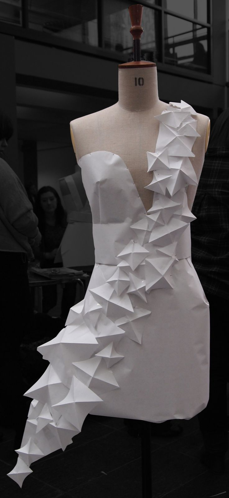 #Gaga inspired #origami style paper dress by 2010 stage 1 #RGU BA (Hons) Fashion Management students.