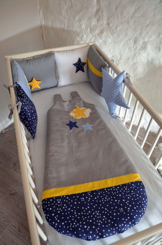 Liste de naissance Noémie Gigoteuse 0_24 mois été 'La tête dans les étoiles' bleu marine, bleu : Mode Bébé par shanouk