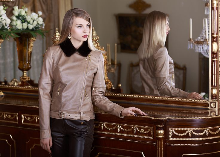 Reindeer Leather Mink Jackets by Mariela Pokka